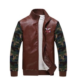 Wholesale Fall The New Aviation Industry MILITARE Men Top Brand Men Leather Jacket Leather Jacket Leather Coat Winter Fashion Air Force