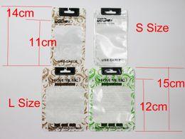Polyuréthane plastique en Ligne-Modèles USB Sacs en polyuréthane transparents en polyuréthane OPP Emballage Fermeture à glissière Accessoires pour paquets Boîtes à billes en PVC Poignées pour téléphone portable iPhone V8 DHL