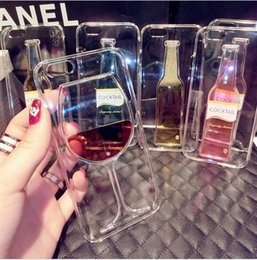 High Sales! Luxury Red Wine Cup and Beer Bottle Liquid Transparent Case Cover For Apple iPhone 5 5s phone cases back Housing