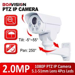 Wholesale 1 CMOS Sensor Megapixel X Optical Zoom Motorized Lens HD P IR m Mini PTZ IP Camera Pan Tilt Outdoor bullet MP IP Camera