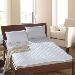 Colchones de colchón en venta-Al por mayor-Nueva llegada venta caliente cubierta protectora colchón de la cama de color sólido calidad de los hoteles con colchón relleno / almohadilla topper # 50