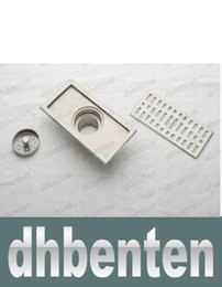 Wholesale LAI1572 cm stainless steel nickel bathroom kitchen shower square floor waste grate sanitary floor drain dl04