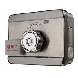 Carte intégrée en Ligne-1 Set Vente Bricolage Bien Magnétique RFID intégrée Double Lock lecture carte pour ouvrir la 125KHZ de porte + 5PCS Card