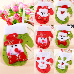 Christmas trees hanging party decorations with Xmas soacks & Xmas gloves use for festival party supplies J110306#