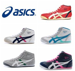 Wholesale New Style Asics Tiger Running Shoes For Women Men Comfortable Lightweight High top Athletic Outdoor Sport Sneakers Eur
