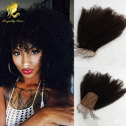 Wholesale The Best A Human Hair Cheap Silk Base Closure Unprocessed Brazilian Hair x4 afro kinky curly Closures