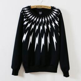 2015 Lightning Printing Women Hoodie Pullovers Fashion O-neck Women Hoodies Sweatshirts Kawaii Women Sweatshirt Tracksuits