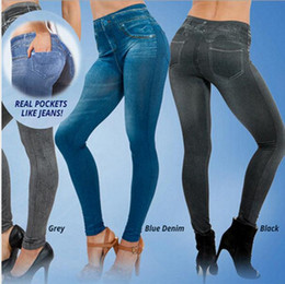 Popular Women Jean Hot sale Genie Slim Jeggings Winter Women Jeggings For Women Fashion Leggings With2 Real Pockets