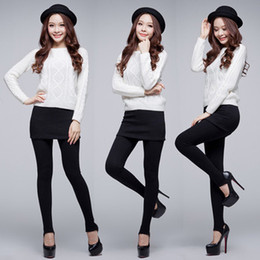 Polainas de la falda caliente en Línea-Envío gratis Pantskirt Nuevo Venta Caliente coreano Damas Mirco Terciopelo Fino Pantalón falda Polainas Faldas Plisadas W3252