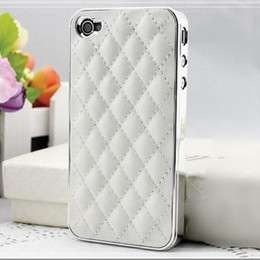 Wholesale Luxury PU Leather Retro Elegant Soft Grid Skin Case for iphone G S G Hard Back Cover Phone Bag Affordable On Sale