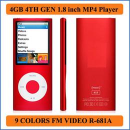 Promotion livres vidéo Livraison gratuite 8 Go MP3 MP4 Player 9 Couleurs 4e gen 1,8 pouces LCD FM vidéo E-Book Jeux Photo Viewer Enregistreur vocal R-611