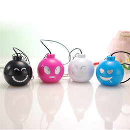 Wholesale Funny Face Mini Surround Speakers Fancy Design Best Laptop Speakers Promotion Price Good Sound Quality Computer Speakers SY001