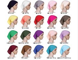 Wholesale Hot sale Muslim Islamic Arabian hijab underscarf cotton veil robe abaya inner cap