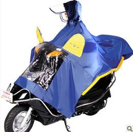 Wholesale-Motorcycle helmet Automatic hat brim motorcycle poncho electric bicycle raincoat single double