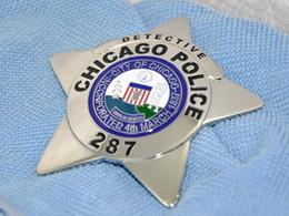 Wholesale 2016 Promotion American Metal Badges Militaire Medailles German Cap Insignia Souvenirs Chicago Polize Detective Metal Badge