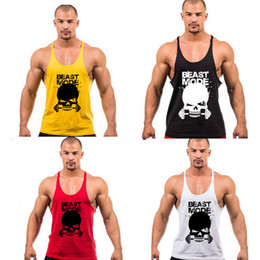 New 2017 Superhero Punisher Muscle Tank Top Men Gym Stringer Fitness Bodybuilding Workout Vest Cotton Sport Loose Singlet