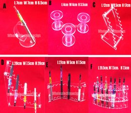 Wholesale Acrylic e cig display clear standing shelf holder rack for vapor ecig vaporizer pen electronic cigarette ego t battery Base and Mod drip tip