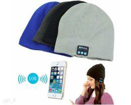 Bluetooth Music Hat Soft headband Warm Beanie Cap with Stereo Headphone Headset Speaker Wireless Microphone colorful black gray