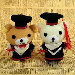 18cm Graduation Teddy Bear Tactic Doll Bear Cell Phone Pendentif en peluche Cartoon Peluche Pour le Docteur / Etudiants Cadeaux Livraison gratuite à partir de téléphone gratuit pour les étudiants fournisseurs