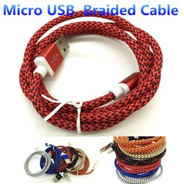 Fabric Braided Micro USB Charger Cable Adapter Data Sync Nylon 1M 3FT Charging Cable for Samsung S6 Edge S7 HTC Blackberry