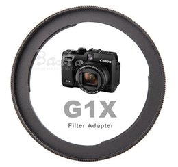 Wholesale 1pcs Aluminum Camera Lens Filter Adapter FA DC58C For Power Shot G1X to mm UV filter Lens hood