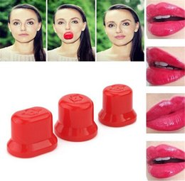 Wholesale 2016 Hot Fashion Girls Increase Lip Enlargement Pump Up Lips Womens Plumper Fuller Enhancer Beauty Tool S M L size Good Quality K1071