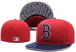 New Arrival MLB Boston Red Sox Fitted Cap Embroidered Team Logo Baseball Cap Casual Style sport Fit hats With Box 910