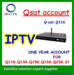 Wholesale one year IPTV account renew all qsat decoders for net channel DQIPTV account year renew