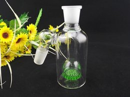 Wholesale 2015 Glass Ash Catcher Honeycomb Bongs mm and mm Ash catcher Green Percolater Bubbler Water Pipe for Smoking Turbine Ashcatcher