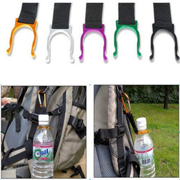 2017 bouteilles d'eau mousqueton 1pc Carabiner En Aluminium Clip Bouteille D'eau Camping Camping Snap Hook Key Chain peu coûteux bouteilles d'eau mousqueton