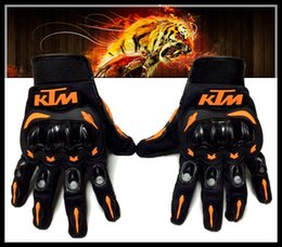 Wholesale hot sales free ship Newest KTM Motorcycle Glove Full Finger Motocross Armor Guantes M L XL XXL