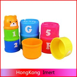 Wholesale 2016 hot Baby Bath Toy Stacking Pile Up Tower Count Cups Count Number Letter Toy for kids