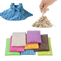 Wholesale Magic moon sand g BAG DIY make moon sand No mess Indoor outdoor Space Sand Motion sand Play sand Drawing Toys Gifts color