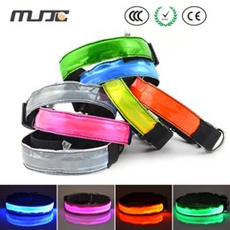 Wholesale Solid LED Collar for Pets Lattice Surface Light Emitting Safety Collar Necklace With Flashing Modes Controlled by Switch