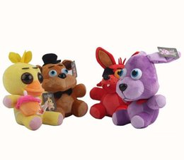 Wholesale Five Nights At Freddy s FNAF Freddy cm chica bonnie Bear foxy Plush teddy bear Toys Doll for kids baby christmas doll gift D7008