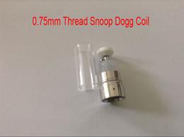 Promotion chambre de cire d'herbe sèche 0.75mm Snoop Dogg atomiseurs bobine reconstructible Chambre chauffage avec tube de verre sec Herb Cire vaporisateurs stylet de remplacement