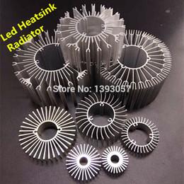 Wholesale LED Heatsink Aluminum Base Radiator For W W High Power LED Cooler Sunflower UFO Round PCB Radiator LED Lamp DIY