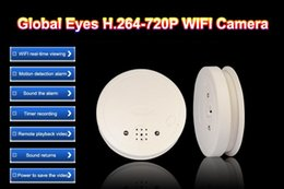 Wholesale New Global eyes GB Wifi IP camera HD quality smoke detector cctv camera AV format motion detection H alarm system M cable