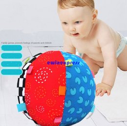 Wholesale Cotton Baby Children s Ring Bell Ball Baby learning educational toys months Colorful toddler infant toys baby activity gym play games toys