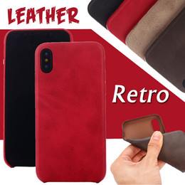 Luxury Retro PU Leather Holster Pouch Fundas Soft Phone Case Ultra Thin Slim Shockproof Fashion Cover For iPhone XS Max XR X 8 7 6 6S Plus