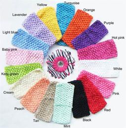 2.75inch crochet headbands Little Girl Hair Accessories Baby Girls Headbands High Quality