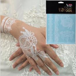 New 5 pcs White Lace Design Temporary Tattoo Waterproof Transferable Fake Flash Tatoo Sticker Body Art Women Jewelry Free shipping