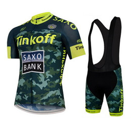 2015 TINKOFF SAXO BANK TEAM Camouflage T02 Short Sleeve Cycling Jersey Bike Bicycle Wear + BLACK BIB Shorts Size XS-4XL
