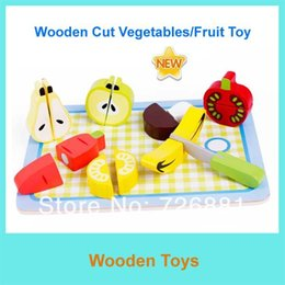 Wholesale-Free Shipping Educational Toys Wooden Cutting Fruits  Cake Vegetable Toys AM144-6 Kitchen Toys Wooden Toys