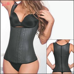 Wholesale 2015 New Latex Vest Waist Cincher Chest Binder Body Shaper Corrector For Women Corset Slimming Plus Size Waist Training Corset Beauty