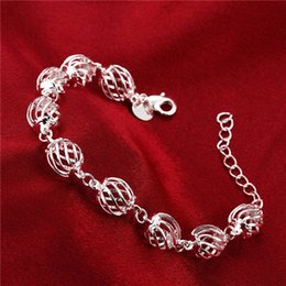 Wholesale Sterling Silver Twisted Wire Bracelet - Hot sale 925 silver Round three-dimensional twisted wire bracelets DFMCH358, new fashion 925 sterling silver Chain link bracelets high grade