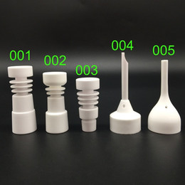Wholesale 5 styles 14mm 18mm Ceramic Nails with male female domeless glass joint ceramic domeless nail Glass water Pipe In Stock