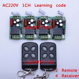 Wholesale AC V A RF CH china electrc switch RF mhz mhz remote receiver rf transmitter