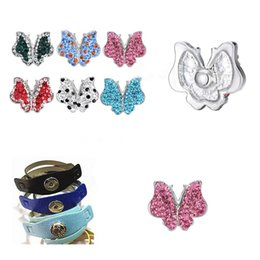 crystal 6 colors zinc alloy bauhinia crystal Noosa snap ginger snap button Chunks Clasps Snap Jewelry butterfly noosa buttons