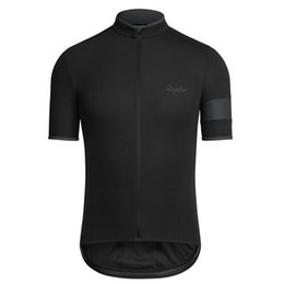 Wholesale Cheap Rapha short sleeve cycling jerseys contracted fashionable riding bike unlined upper garment jacket MTB Bike outdoor jersey